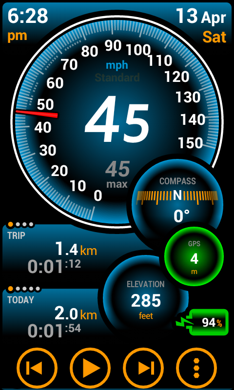 """mobile app  review  for your car  :  Ulysse Speedometer"""