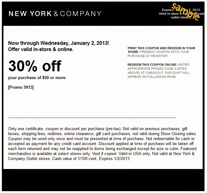 Coupons New York And Company - NY C 60 Off New York Company Coupons 2017 Printable