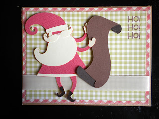 Cricut Christmas Cheer Cartridge Christmas Santa Card