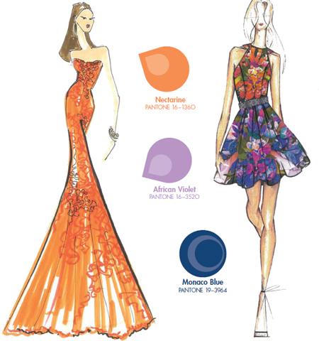 Портокалово Оранжево цветови комбинации 2013