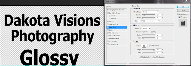 Step 5 - Text Effect Photoshop Tutorial: Glossy Glass Text #typography #innerglow