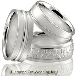 Diamond Cut Wedding Rings