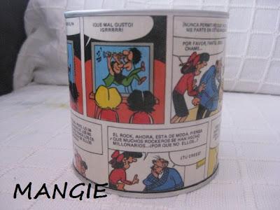 Reciclaje lata forrada