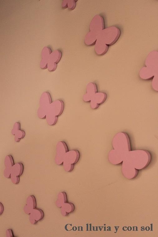 Con lluvia y con sol mariposas decorativas de pared - Mariposas en la pared ...