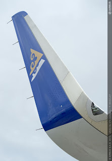 A closer look at the Air Astana Airbus A320 sharklet