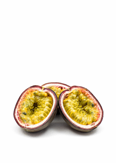 Passion fruit three halfs