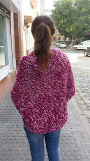 patron cardigan de punto sencillo tipo kimono