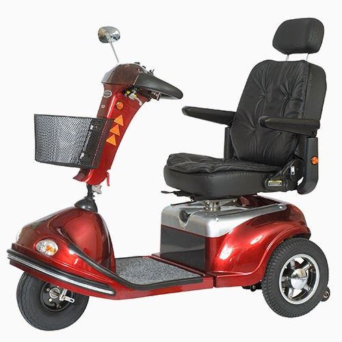 mobility scooter red 3-wheels