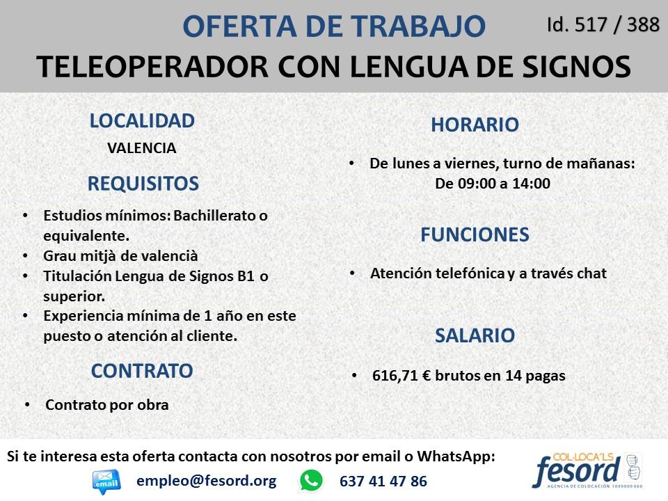 Teleoperador con Lengua de Signos - Valencia Diapositiva1
