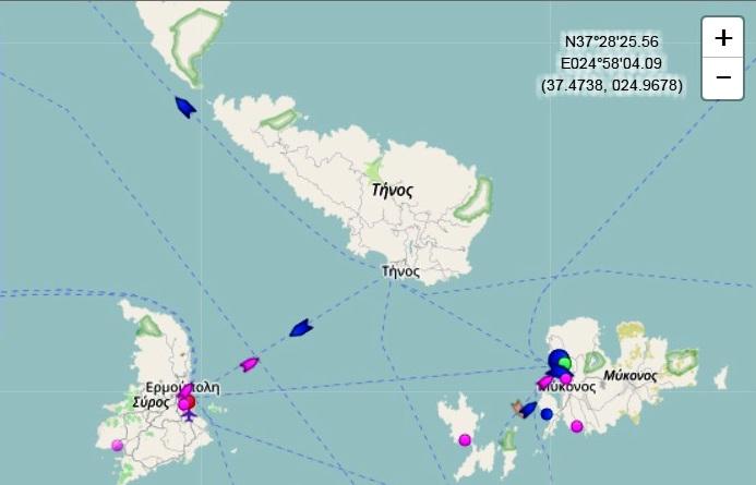 Η κίνηση των πλοίων στο νησί μας