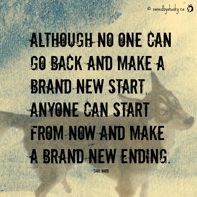 although no one can go back and make a brand new start... quote