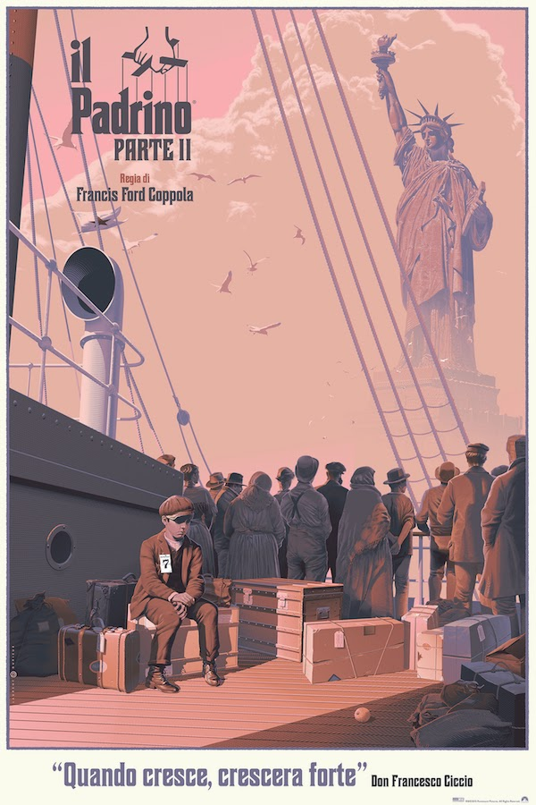 The Godfather Part II Variant Screen Print by Laurent Dureiux