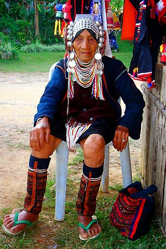 Colorful Akha People