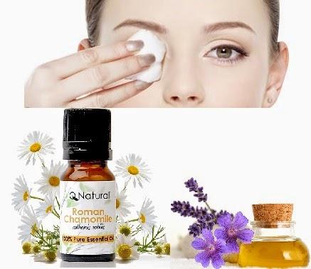 Hot Compress of Oils (rose, lavender or chamomile)