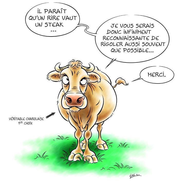 Saint materne abstinence de viande riez humour - Vache dessin humour ...