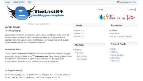Free Blogger Blue White Explorer Web2.0 Template