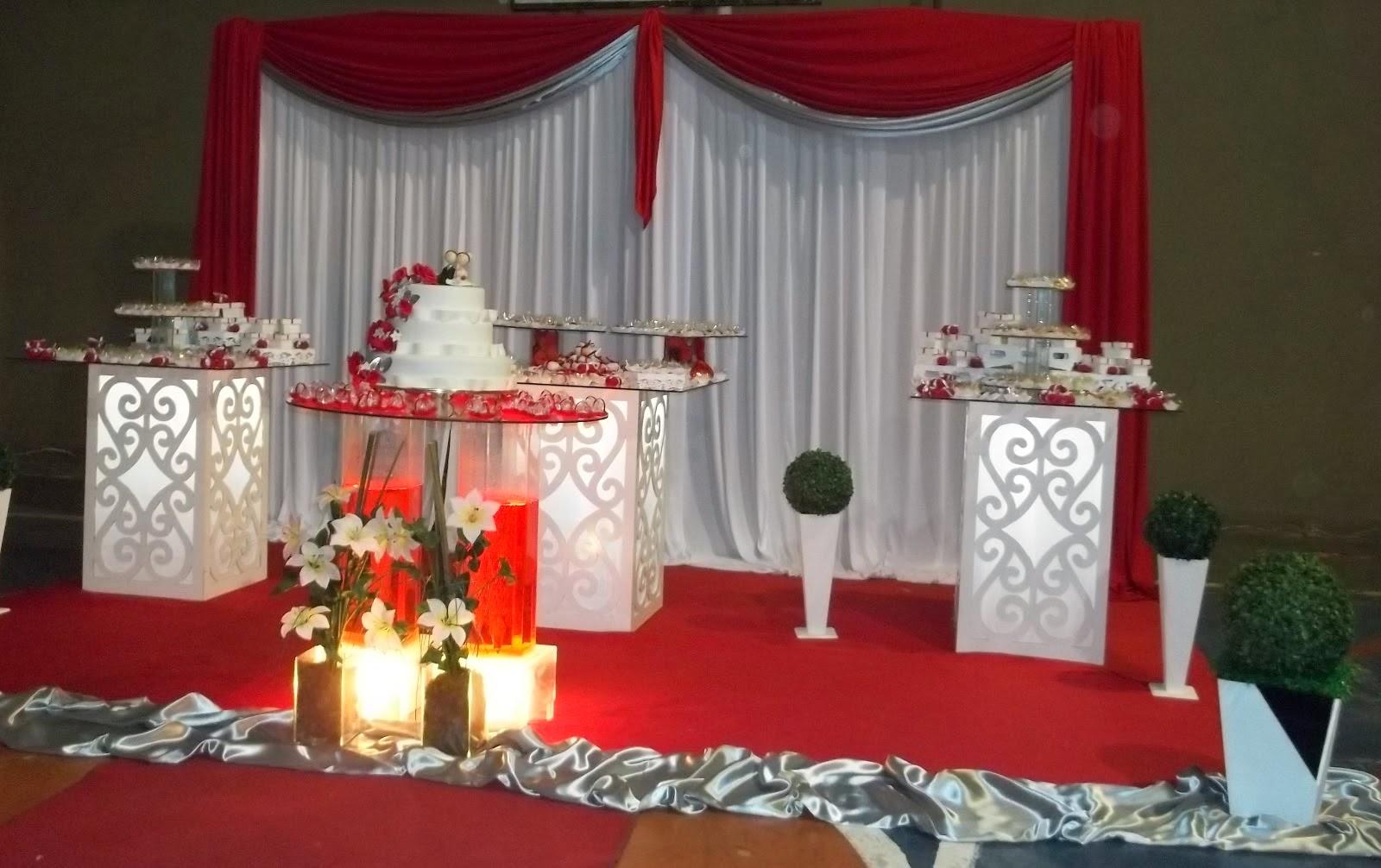 decoracao festa vermelho e branco:Decora??o de Casamento Vermelho ...