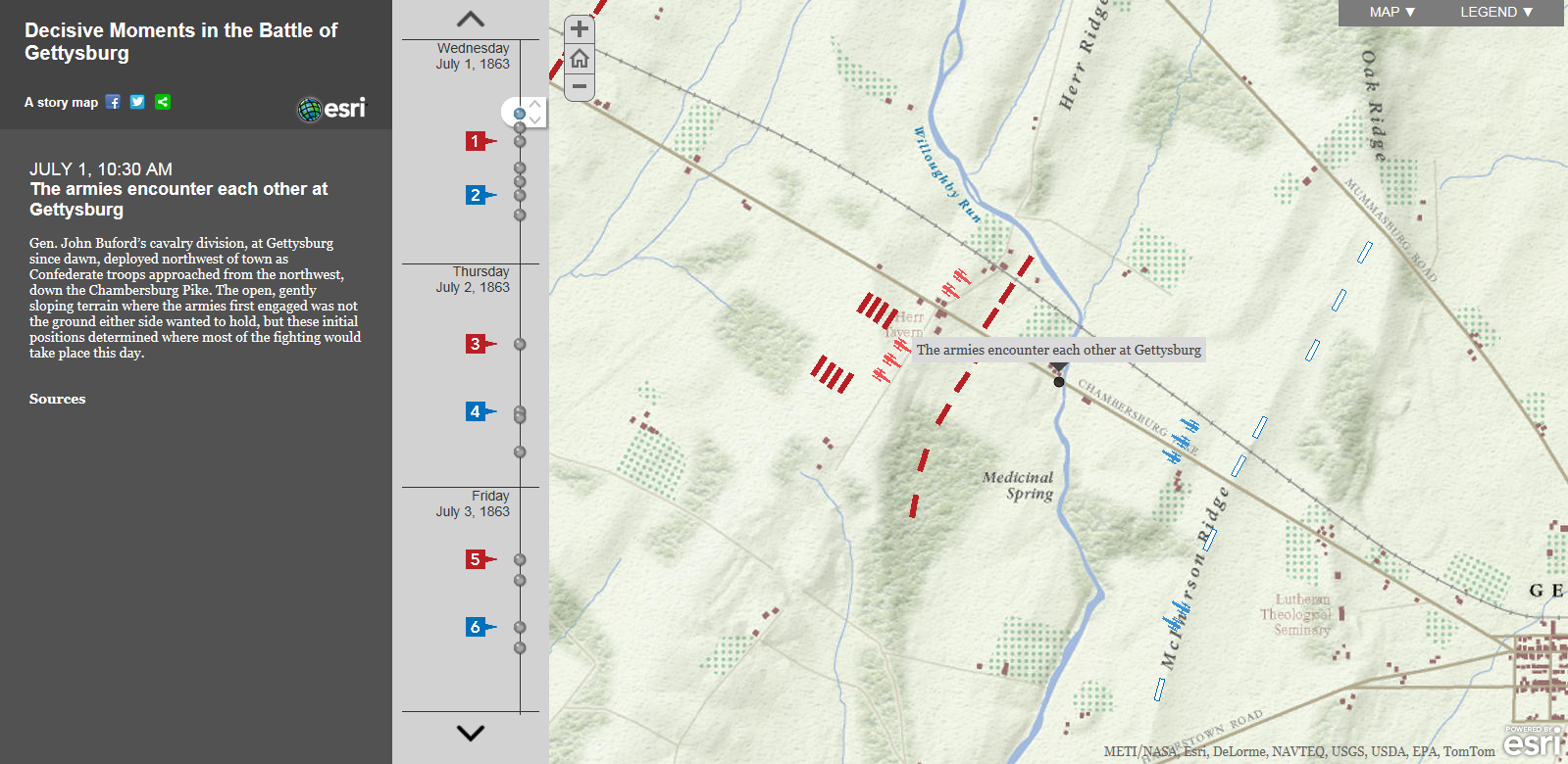 with my idea being to take the template used in the gettysburg story map to create my story map of the battle of the somme i began to look at the arcgis
