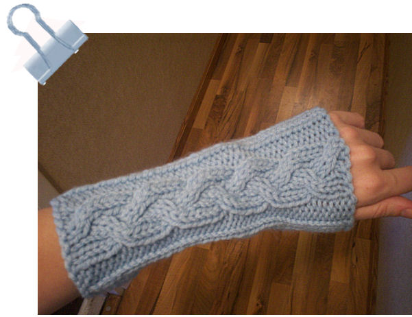 Knitting Patterns for the beginner or the advanced knitter: Easy Cabled Arm W...