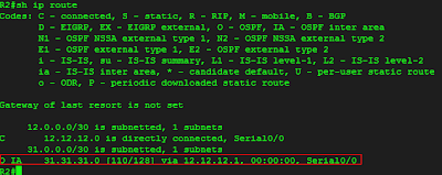 Show ip route ospf