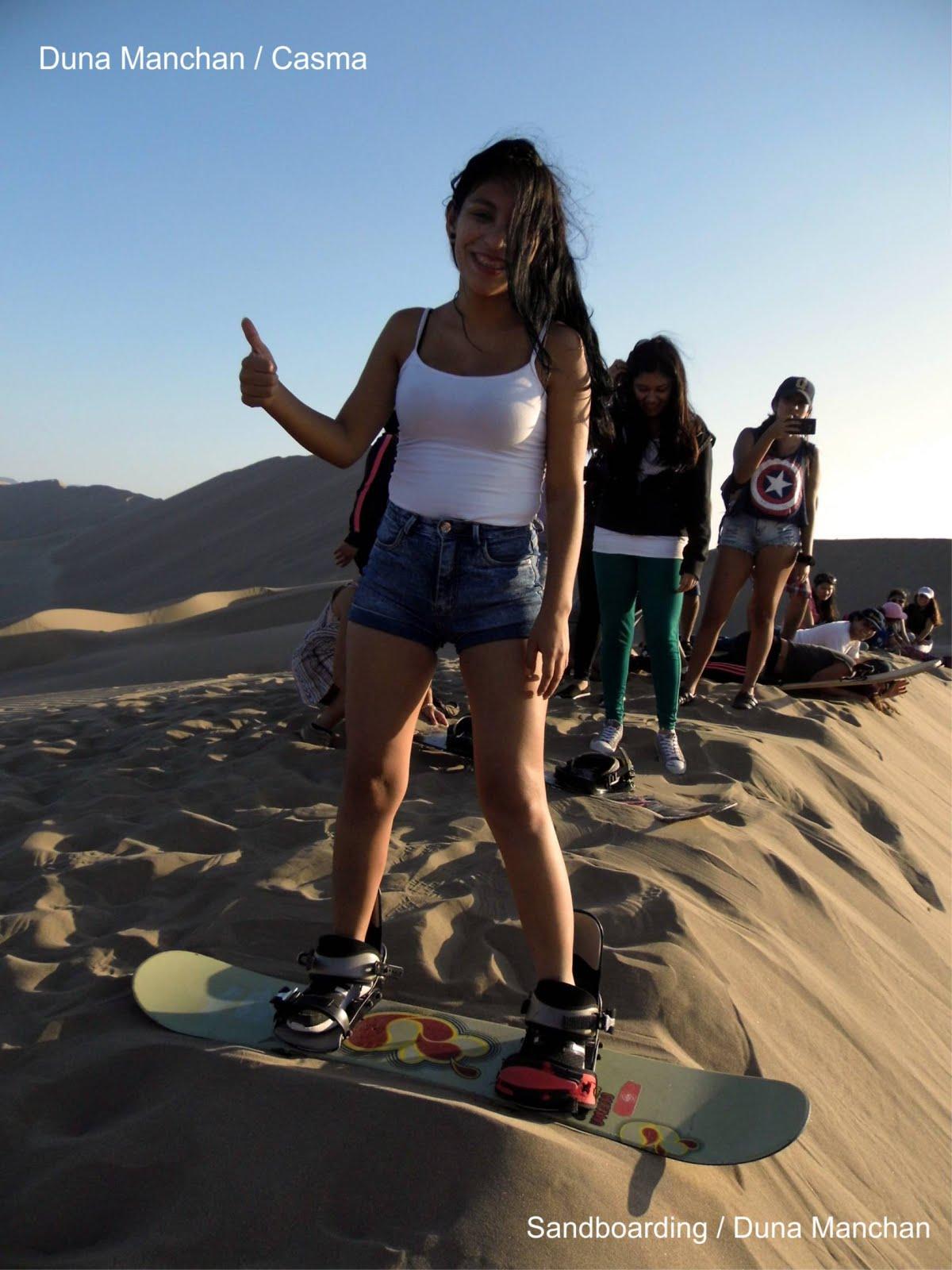Sandboarding en nuestra duna de Manchán