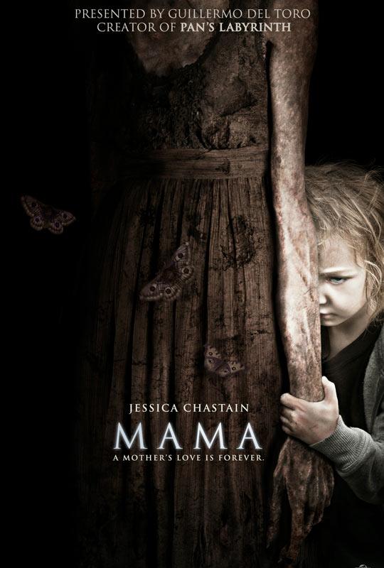 Poster de Mama, el nuevo film de terror producido por Guillermo del Toro