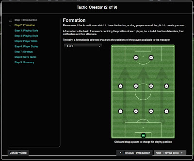 Football Manager Tactic Creator