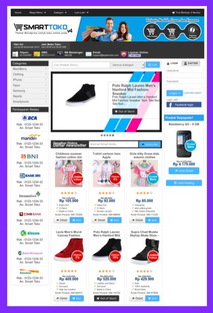 Template toko online terbaik