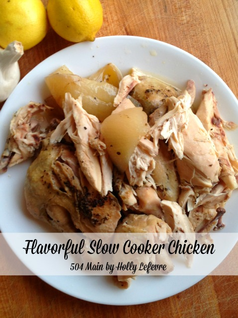 Slow cooker chicken just melts in your mouth.