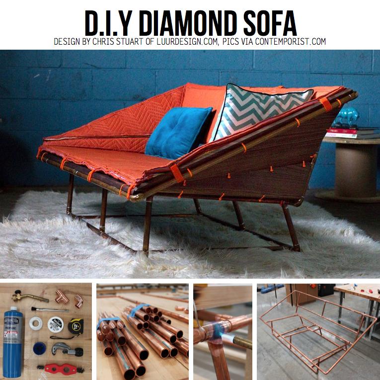 el mundo del reciclaje diy sofa con tubos de cobre