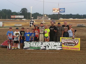 Bobby Wins Midwest Big Ten Series Feature @ Quincy Raceway 7-20-2014