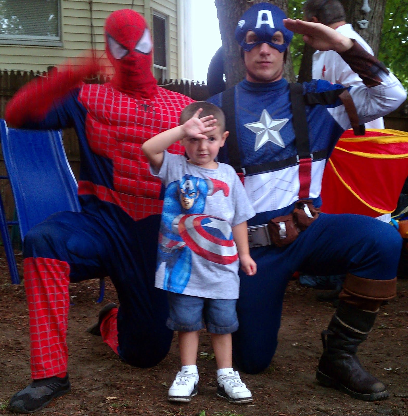 Spiderman and Captain America