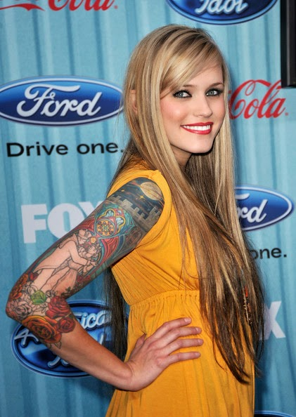 Megan Joy Sexy Sleeve Tattoo Designs