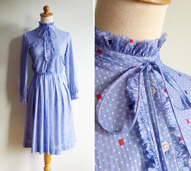 vintage 70's cube print dress