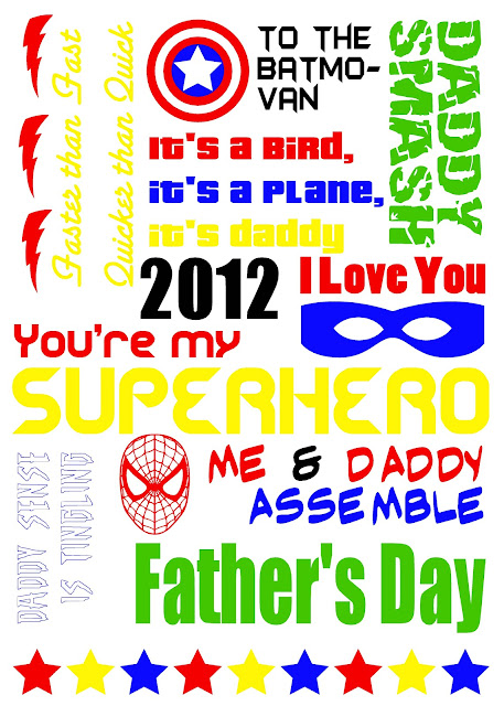 Superhero+Fathers+Day Fathers Day Gift Ideas From You!
