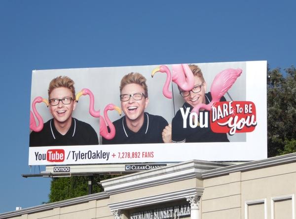 Tyler Oakley YouTube pink flamingo billboard