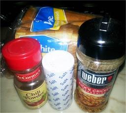 - соль - 0,5 ч .л; - специи - больше всего подходит приправа Мивина - 0,5 пакета.