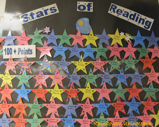 photo of: Bulletin Board for Reading Accomplishments, Stars for Reading Bulletin Board