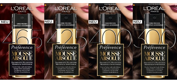 L´Oréal Hair Mousse Absolue - dunklere Töne