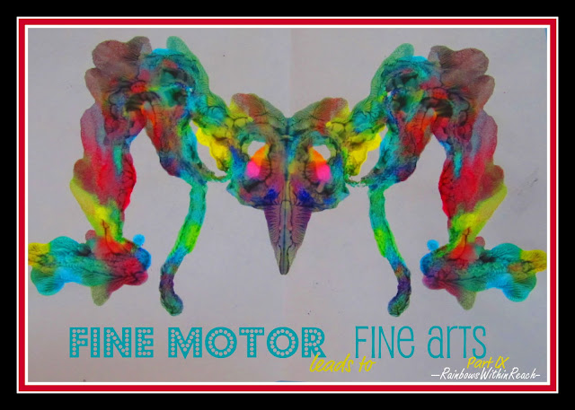 Insect Art, Fine Motor, Fine Arts, children's Art, bright colors, children's painting, symmetry