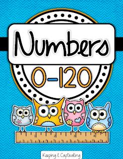 Number Posters 0-120, Number Posters, Number Signs