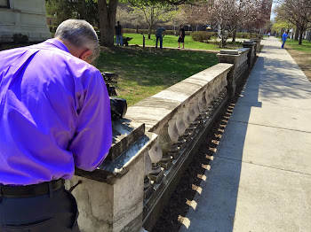 Fence Cleaning Among Project at Library this Spring