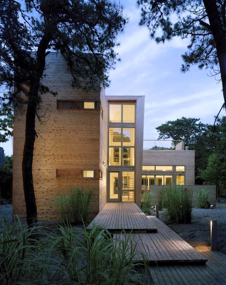 Decoracion actual de moda fachadas de casas modernas for Casas alargadas