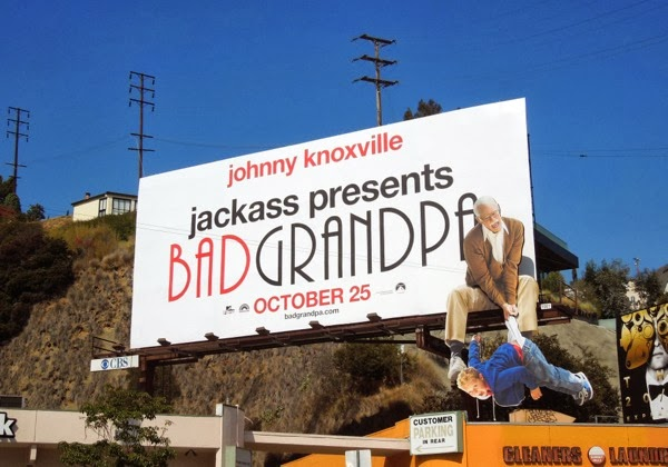 Jackass Bad Grandpa special installation billboard