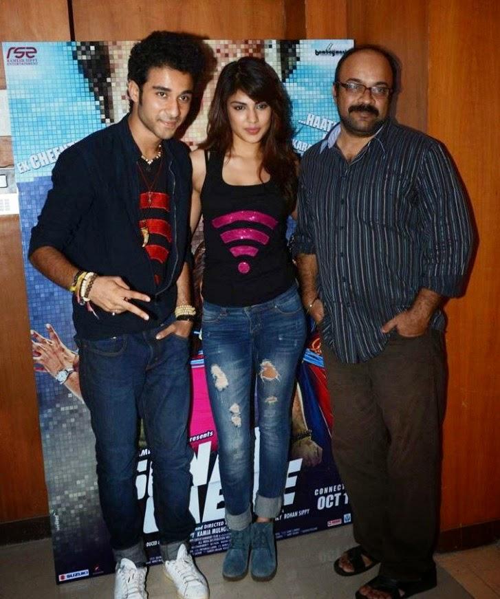 Rhea Chakraborty & Raghav Juyal at promotion of their movie 'Sonali Cable'