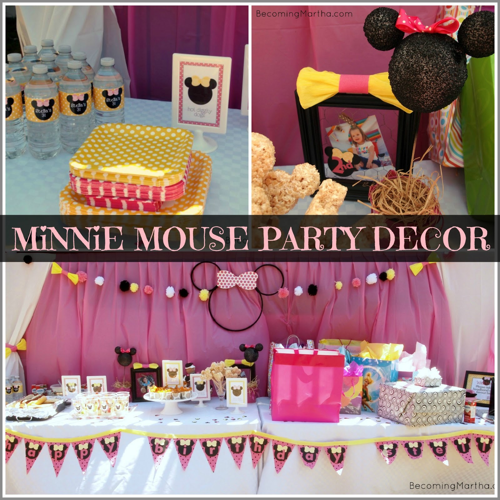 Minnie Mouse Party Decor - Becoming Martha