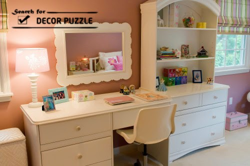makeup dressing table with mirror, wooden dressing tables