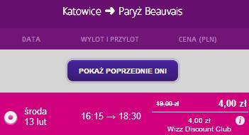 Katowice Paryż lot