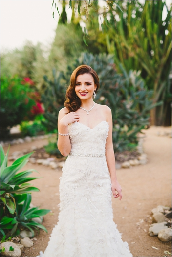 Bride in elegant petal gown // Photo by Closer to Love Photography via @thesocalbride