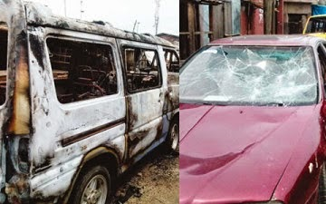 Photo Robbers Raid 8 Lagos Residents, Rape Women and destroy 30 Cars
